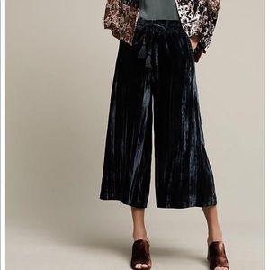 Anthro crushed velvet pants